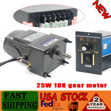 25w Ac110v Ac Gear Motor Electric Motor Variable Speed Controller 110 0135rpm