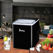Portable Ice Maker Machine Countertop Cube 40lb24h Self Clean With Scoop Black