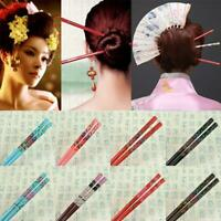 Headwear Hair Stick Women Japanese Hairpins Wood Vintage Hair Accessories