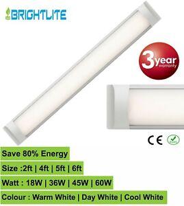LED BATTEN SLIM LINE TUBE LIGHT WALL OR CEILING MOUNT 2ft 4ft 5ft 6ft HIGHLUMEN