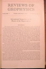 Reviews of Geophysics Vol 7 Febr - May 1969 Num #1 & 2 - Bounded in Hardcover