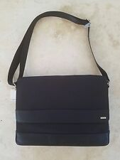 CALVIN KLEIN MENS LARGE BLACK NYLON CITY MESSENGER BAG CAN HOLD LAPTOP $218 NWT