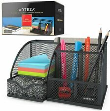 Arteza Desk Organizer, Black Mesh - 6 Compartments