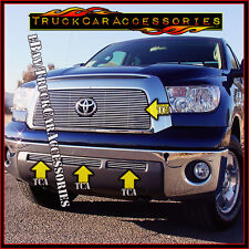 For TOYOTA Tundra 2007 2008 2009 4PC OVERLAY Grille Combo Main Logo Fit+Bumpers