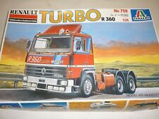 A vintage, italeri un made plastic kit of a Renault R 360 Turbo tractor unit.