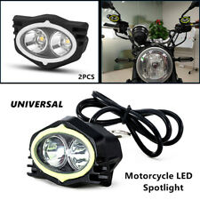 2X Motorcycle LED Spotlight Focused Rearview Mirror Light Beam Driving Work lamp