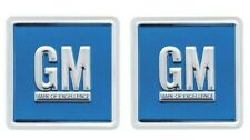 OER GM Emblem Door Decal Set Embossed Blue 1967-74 Camaro Nova Impala Firebird