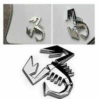 Silver Logo Decal Truck Scorpion Car Sticker Badge Emblem Auto Decor 3D Metal