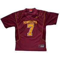Minnesota Golden Gophers Nike Team Boys Football Jersey Red Gold Size 7