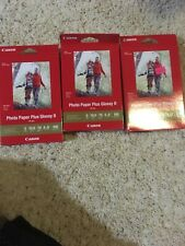 """Canon Photo Paper Plus Glossy II 4"""" X 6"""" PP301  Lot Of 3 Boxes"""