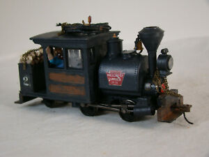 Logging Steam Locomotive Switcher - TSU Sound & DCC - custom weathered - On30