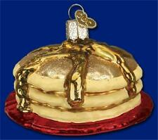 Short Stack Of Pancakes Old World Christmas Blown Glass Breakfast Ornament 32168