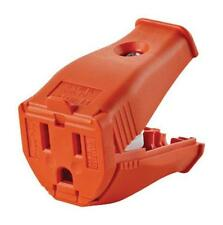 Leviton 003-3W102-0OR 2 Pole 3 Wire Grounding Cord Outlet, Orange