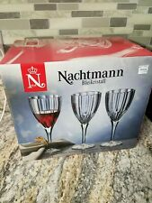 "NEW Set of 6 Nachtmann ""Aspen"" Crystal Red Wine Goblets 8 3/4"" NIB With Box"