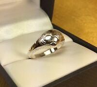 Vintage 925 Sterling Silver Etched Ring Size- 6 Fine Jewelry
