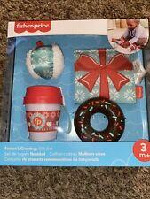 Fisher-Price Season's Greetings Gift Set: Crinkle Jingle Snowball Teetheable Cup