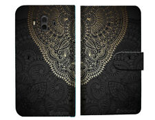 Gold pattern Mandala Wallet Case Cover For Huawei Mate 10 Pro - A035