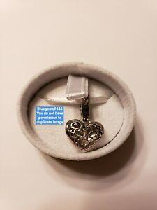 Chamilia In My Heart Locket Charm w/ Pink Swarovski Crystal - .925 SS