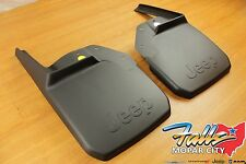 2007-2018 Jeep Wrangler JK Deluxe Front Molded Splash Guards Mud Flaps Mopar OEM