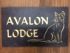 Engraved Plaques In Slate House Name  address number Road Name personalised Sign