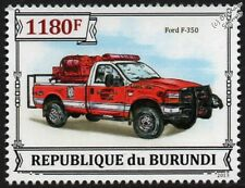 FORD F-350 Fire & Rescue Truck Vehicle / Car Stamp