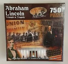 "Abraham Lincoln Puzzle 750 Piece Gettysburg 18""x24"" Triumph & Tragedy Americana"