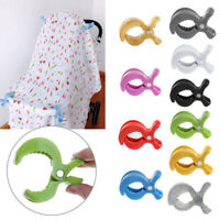 Baby Car Seat Toy Lamp Pram Pushchair Stroller Peg To Hooks Cover Blanket Clip