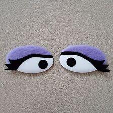 FAO Schwarz MUPPET Whatnot Workshop Flat Oval Purple PUPPET EYES Disney
