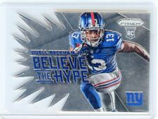 "2014 PRIZM #BH12 ODELL BECKHAM JR. ""BELIEVE THE HYPE"" ROOKIE RC, GIANTS, 072615D"