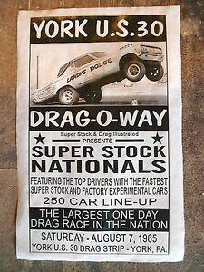 "(602L) DRAG STRIP YORK US30 DRAG-O-WAY LANDY'S ALTERED DODGE RACE POSTER 11""x17"""