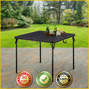 34-INCH RESIN SQUARE CARD TABLE Foldable Indoor Outdoor Multi Durable Plastic