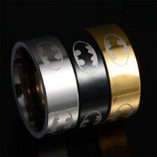 Hombre Acero inoxidable Batman Anillos domo Anillo Ring super héroe