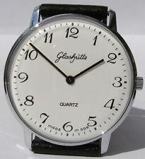 Top große runde original GLASHÜTTE Armbanduhr GUB Kal. 38 aus der DDR