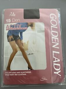 Collants Golden Lady T4  Fumé Voile  15 Deniers