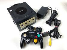 Nintendo Gamecube Konsole schwarz Original Controller & Kabel #31 21