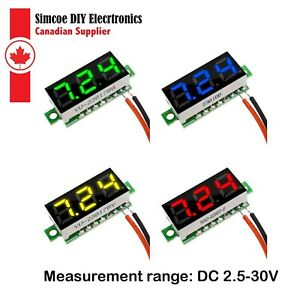 Mini 0.28 in 3 to 30VDC Digital Direct voltage meter for battery monitor #2053