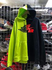 Nike Air Jordan WIngs Split Remix Rmx Men's  Pullover Hoodie XL Black Volt
