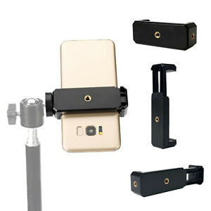 Universal Adapter Mount Phone Clip Holder Stand for iPhone Tripod Camera Mobile