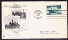 """USA """"Artcraft"""" 1946 Honoring Armed Forces First Day Cover Addressed"""