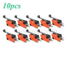 10x Micro Limit Long Roller Lever Contact Switch SPDT AC125~250V 15A 3Pins New