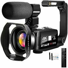 4K Video Camera Camcorder with Microphone 30FPS 48MP Vlogging Camera Touch Scren