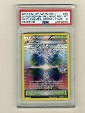 Pokemon PSA 8 NM-Mint 2016 Chaos Tower STAFF National Championship Card #94