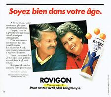 Publicité Advertising 097  1982  Rovignon  vitamine A & E lab Sauter