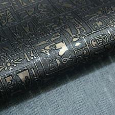 A4 Black Copper Egyptian Leather Fabric PU Leather Material for DIY Sewing Craft