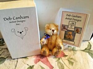 "ADORABLE DEB CANHAM CAT Miniature Mohair 3 1/2""  Lincoln  MIB NEW w/ COA"