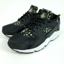 WMNS Nike Air Huarache Leopard Cheetah Animal Safari Print Black Khaki White 5.5
