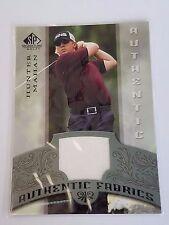 2005 SP Signature Golf Hunter Mahan Authentic Fabrics Match Used Relic