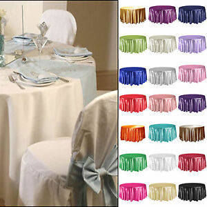 305cm Round Satin Tablecloth Wedding Table Cover Bouquet Party Decoration