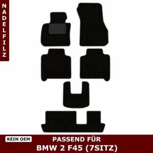 Automatten für BMW 2 F45 7sitz (ab 2013) - Schwarz Nadelfilz 4tlg