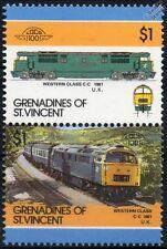 1961 BR Western Class 52 C-C Type 4 Diesel-Hydraulic Train Stamps / LOCO 100